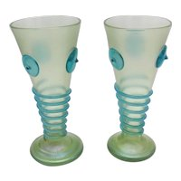 A Pair of Loetz Orpheus Bohemian Glass Vases