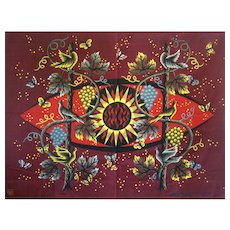Jean Picart Le Doux, Vintage French Fabric Serigraphie Tapestry