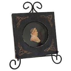 Rare Andrieu Napoleon Wax Portrait Miniature