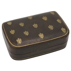 Vintage Italian Leather Jewelry Box