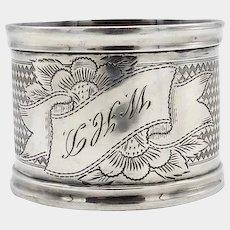 800 Silver Victorian Napkin Ring