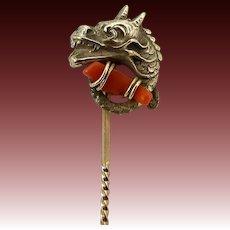 Victorian Sea Dragon or Creature Brass Stick Pin