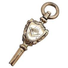 12 K Rose Gold Masonic Watch Key Fob
