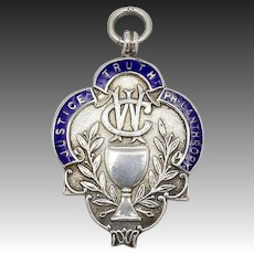 Vintage Masonic Sterling Silver Pendant Medal