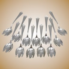 Set of Sterling Silver Durgin-Gorham Ice Cream Forks