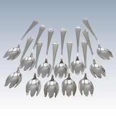Set of Sterling Silver Durgin-Gorham Ice Cream Forks