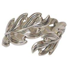 Margot de Taxco Sterling Silver Leaf Bracelet