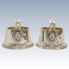 Wood & Hughes 900 Silver Open Master Salts