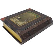 1880's Hand-Painted Wood Book-Box