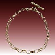 Vintage British 9KT Yellow Gold Bracelet