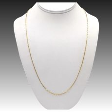 Vintage Italian 14KT Yellow Gold Chain