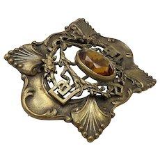 Vintage Art Nouveau Brooch