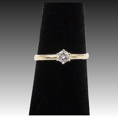 14KT Gold Solitaire Diamond Ring