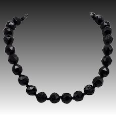 Victorian Hand-Faceted Whitby Jet Necklace