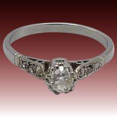Edwardian 18KT White Gold Diamond Ring