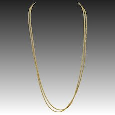 Victorian Gold Filled Chain & 9KT Gold Clasp