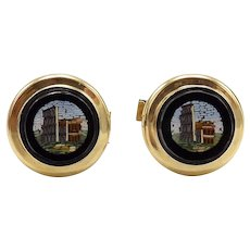 Victorian 14KT Gold Grand Tour Italian Cufflinks