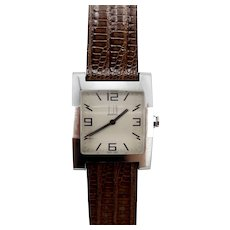 Dunhill Facet Face Square Stainless Steel Quartz Watch