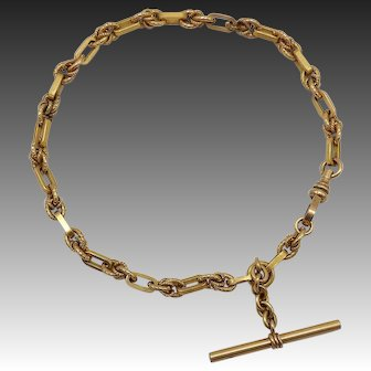 Gold Filled Victorian Watch Fob Chain