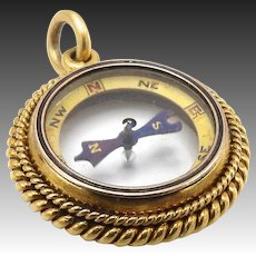 Victorian Era 18KT Gold Compass