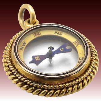Victorian Era 18KT Gold Compass