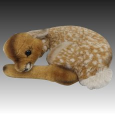 Vintage Steiff German Sleeping Fawn