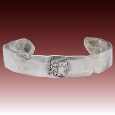 Rare Sterling Silver Shiebler Homeric Bracelet