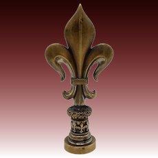 Antique French Bronze Fleur-de-Lys Wax Seal