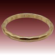 Vintage 14KT Gold Faceted Band Ring