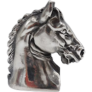 Mid Century Modern Horse Head Silver Plate Reading Magnifier
