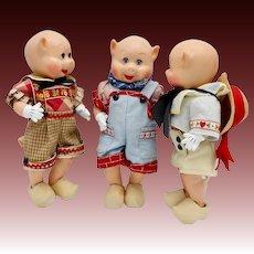 Vintage Three Little Pigs Madame Alexander Dolls