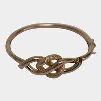 Victorian 9K Gold Love Knot Bracelet