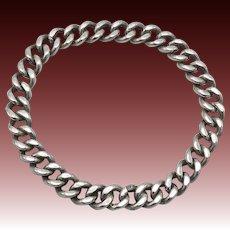 Vintage Sterling Silver Curb Link Bracelet