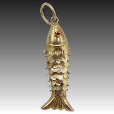 14KT Gold Articulated Fish Charm