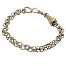 10KT Gold Georgian Triple Link Split Ring Bracelet
