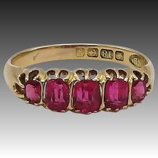 18KT Gold Edwardian Pink Paste Ring