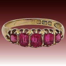 18KT Gold Edwardian Pink Paste Ring