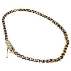 Delicate 14KT Gold Victorian Barrel Clasp Bracelet
