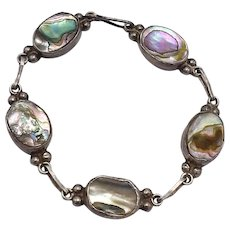 Abalone Shell & Taxco Mexican  Bracelet