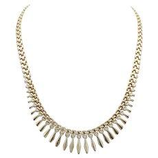 Vintage 14 KT Gold Geometric Necklace