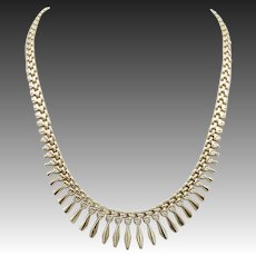 Vintage 14 KT Gold Geometric Necklace