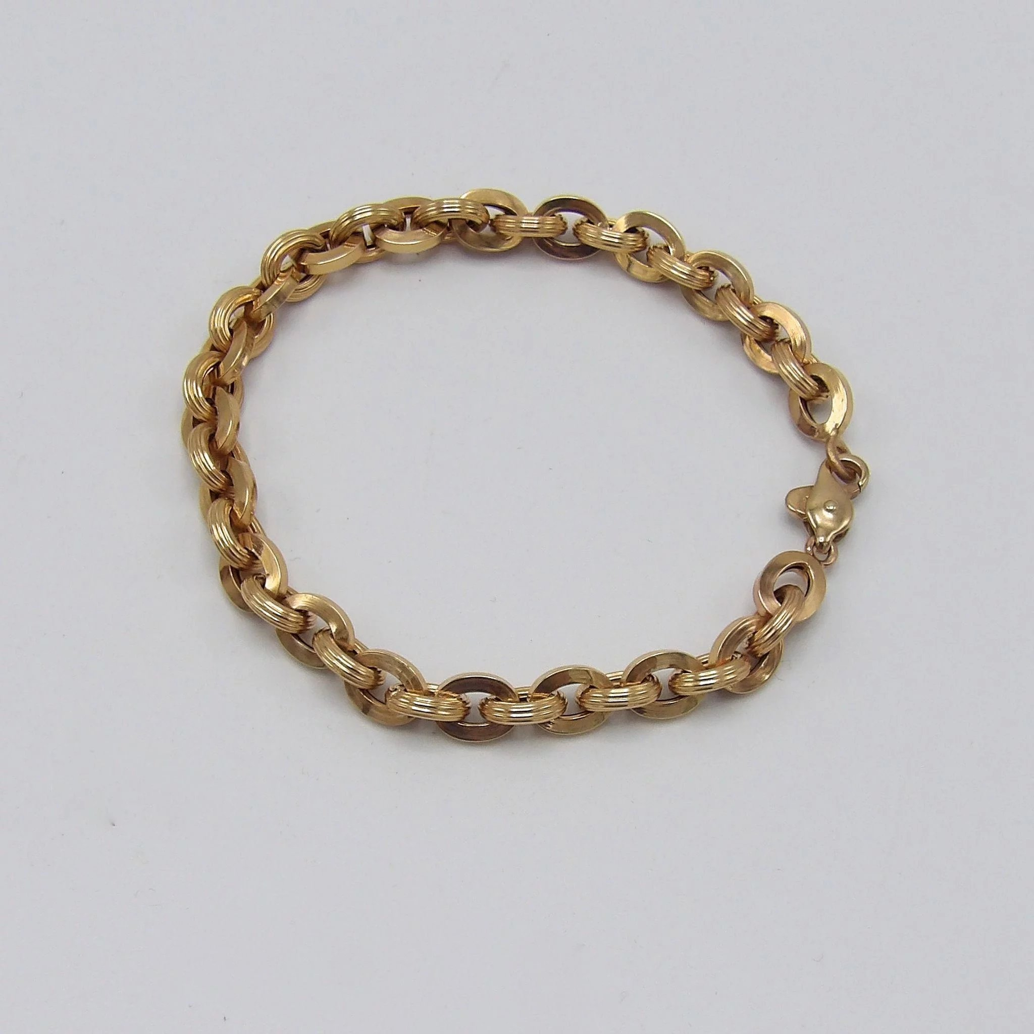 Victorian 14kt Gold Chain Link Bracelet Click To Expand