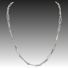 14KT Rose Gold & Sterling Silver Victorian Chain