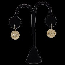 14KT Gold Taille d'Epargne Victorian Earrings