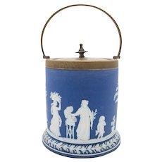 Blue Wedgwood Jasperware Biscuit Jar