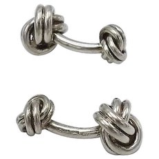 Vintage Tiffany & Co Sterling Silver Double Knot Cufflinks