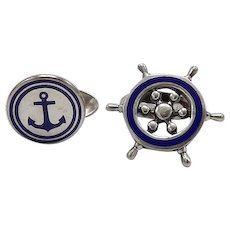 Sterling Silver Nautical Tiffany & Co Cufflinks