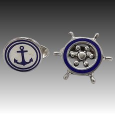 Sterling Silver Nautical Tiffany & Co Cufflinks