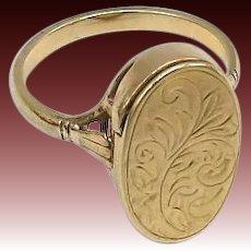 Edwardian Era 9KT Gold Poison Ring