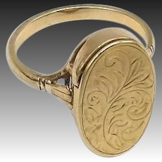 Edwardian Era 9KT Gold Poison Ring